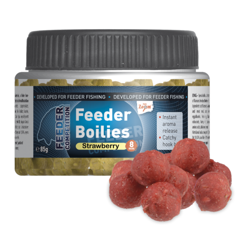 Feeder  Boilies, 8mm, 85g, strawberry