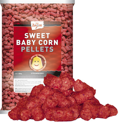 Sweet Baby Corn Pellets strawberry 800g