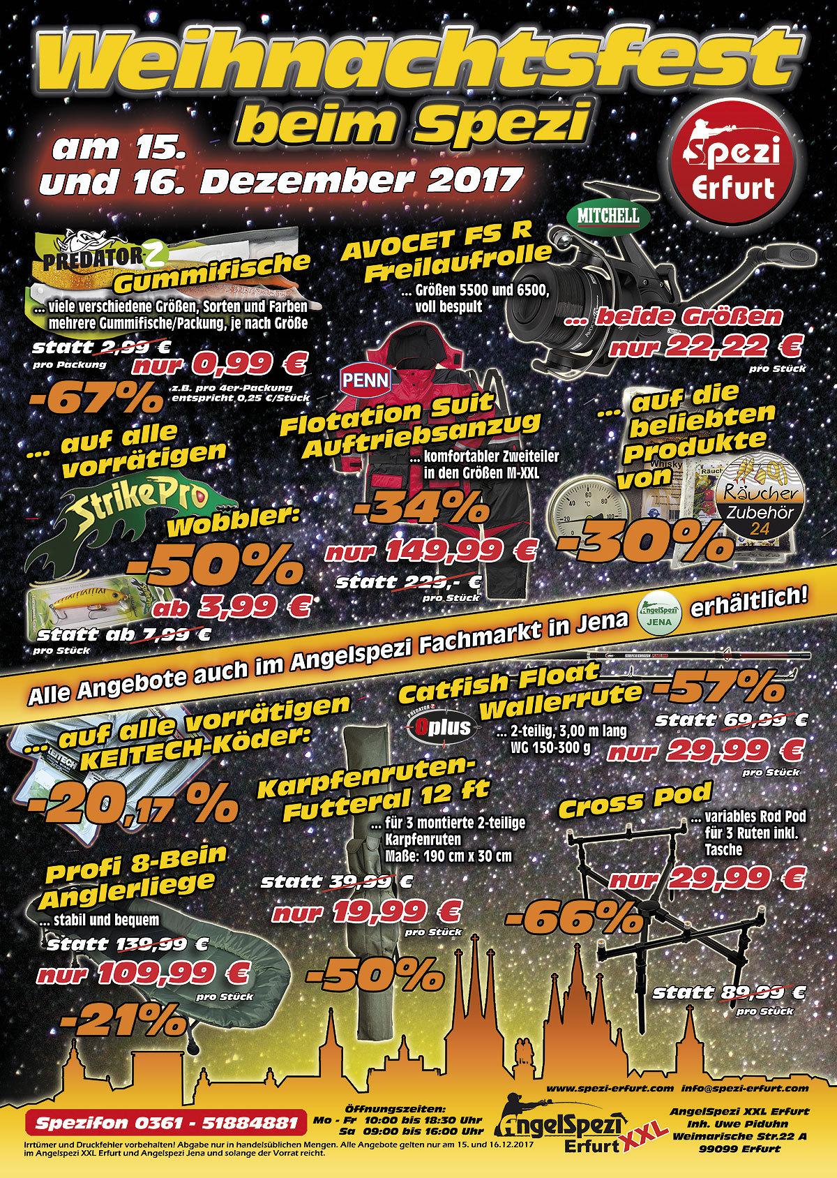 Angebote Weihnachtsfest im Spezi EF