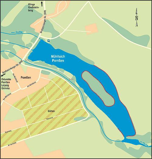 Leipzig Karte Sachsen.Muhlteich Pomssen Angelgerate Sachsen